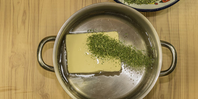 Making cannabutter