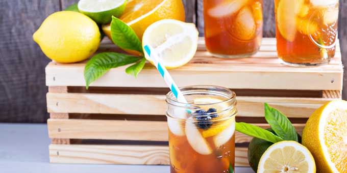 Fruity iced cannabis tea